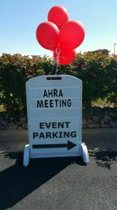 Our sign directing guests to the meeting. Click to see more photos on AHRA's Facebook page.