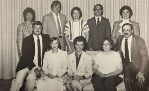 Steve Metcalf (standing, 2nd from the left) is pictured here in the 1988-89 Board of Directors photo