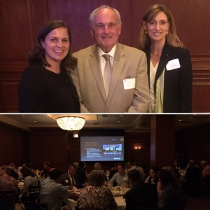 Top: Julie Kaufield, Ed Cronin, and Sharon Wegh Bottom: The crowd at the AHRA Chicago Area Meeting!