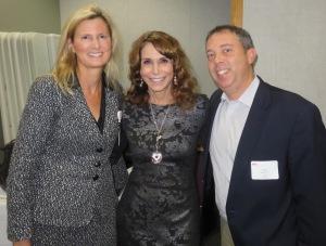 L to R: Dr. Elizabeth Angelakis, Dr. Nancy Cappello, and Jason Newmark